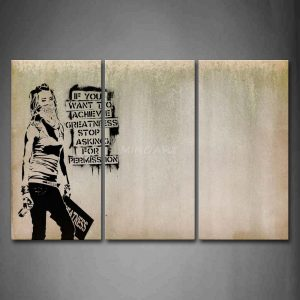 cool wall art piece wall art painting cool girl looks arrogant print on canvas the picture people