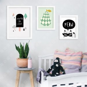 cool wall art m cartoon pear cat you are font b cool b font font b wall b font