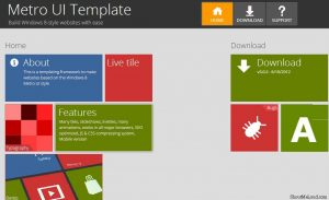 cool website templates metro ui template by thomas