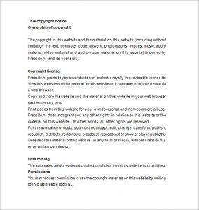 copyright notice example copyright notice example