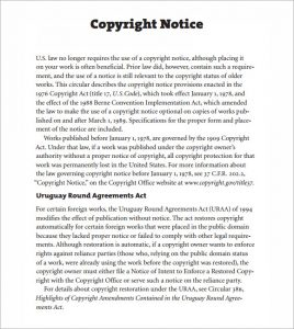 copyright notice example copyright notice format