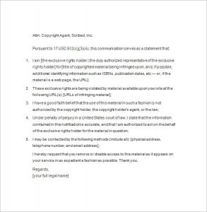 copyright notice example example of copyright notice template