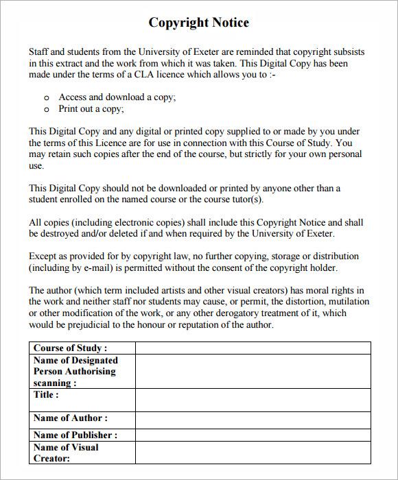 copyright notice format