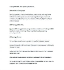 copyright notice format free copyright notice format download