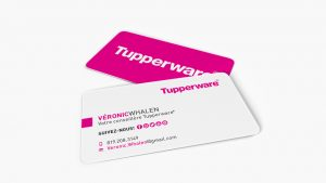 corporate business cards tupperware veronic whalen carte affaire