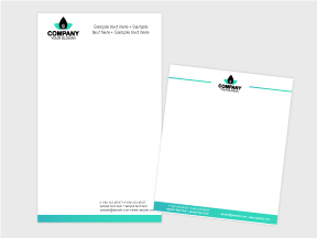 corporate identity package design notepad design
