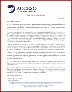 corporate sponsorship letter sample corporate sponsorship proposal