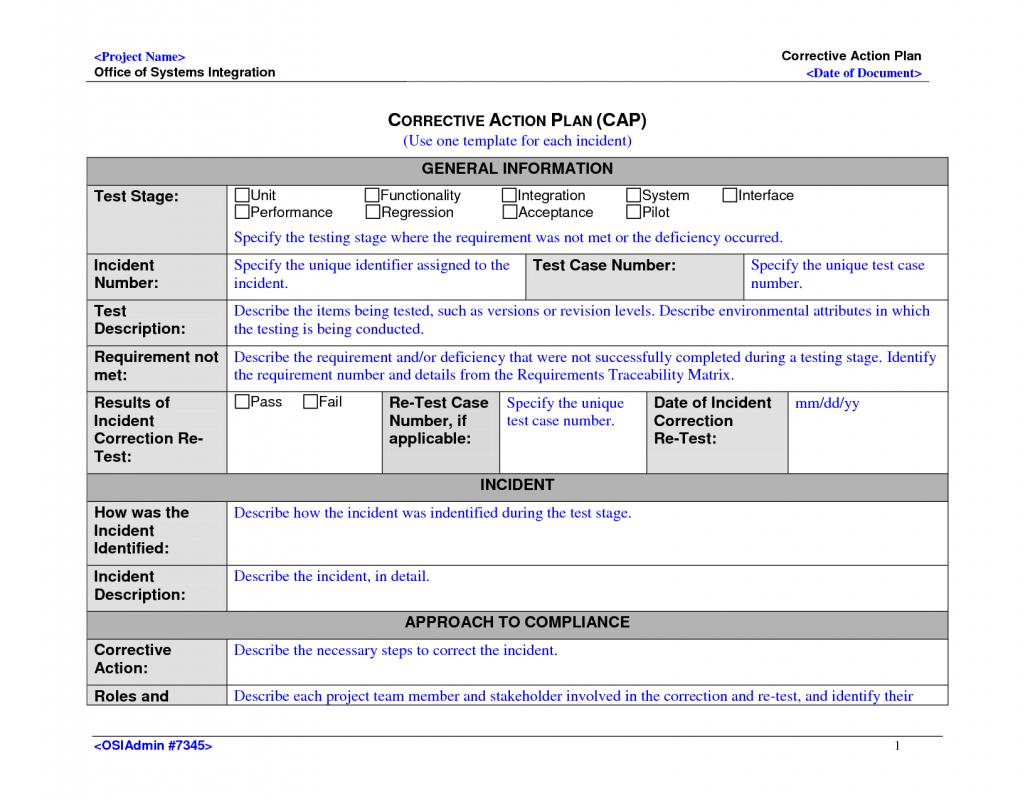 Corrective Action Plan | Template Business