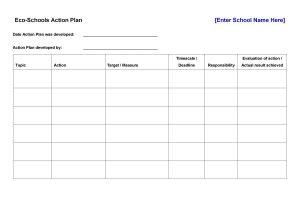 corrective action plan template action plan template