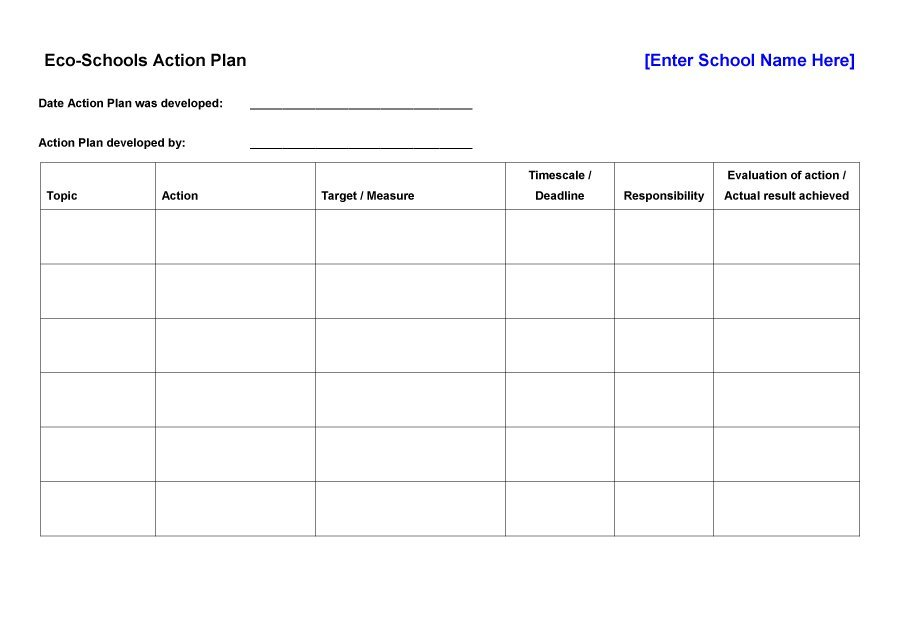 Corrective Action Plan Template