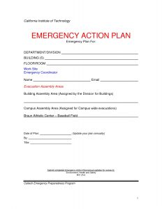 corrective action plan template emergency action plan template musicax intended for emergency action plan template