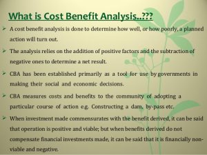 cost analysis template costbenefit analysis
