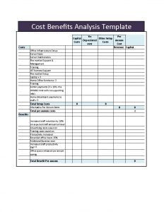 cost benefit analysis template cost benefit analysis template