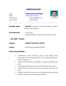 cost estimate template cv electrical estimation engineer