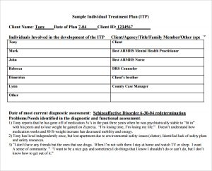 counseling treatment plan template pdf sample individual treatment plan