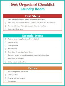 counter offer email get organized checklist for your laundry room