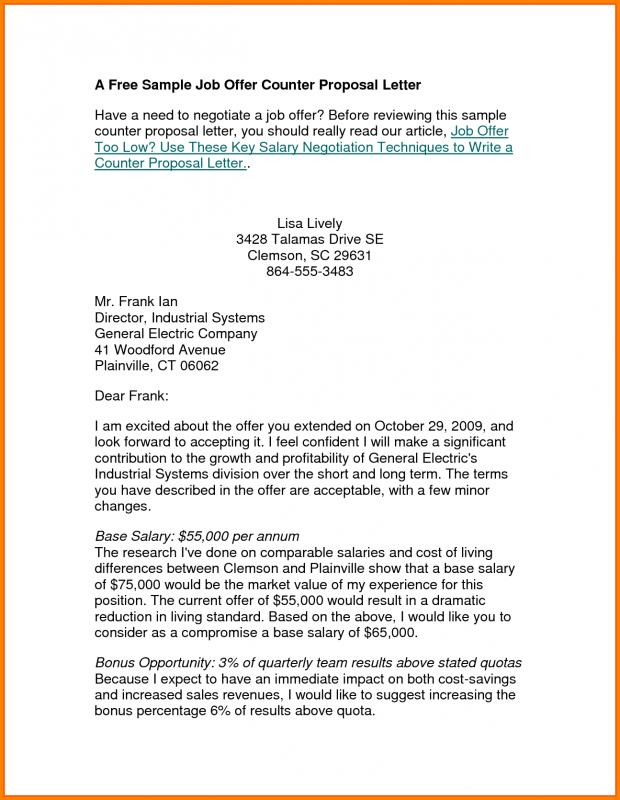 Counter Offer Letter