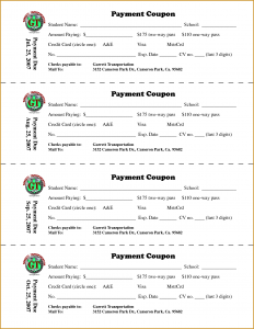 coupon book template payment coupon book template