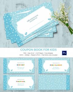 coupon book template coupon book for kids