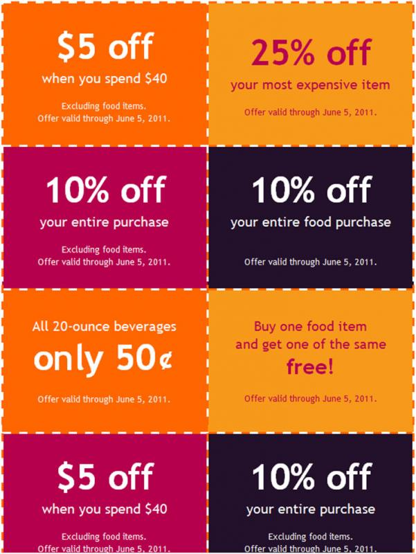 Coupon Book Template  Free Coupon Book Template