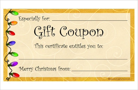 Coupon Template Word  Free Coupon Template Word