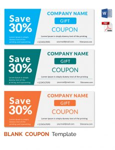 Coupon Template Word Blank Coupon  Free Coupon Template Word