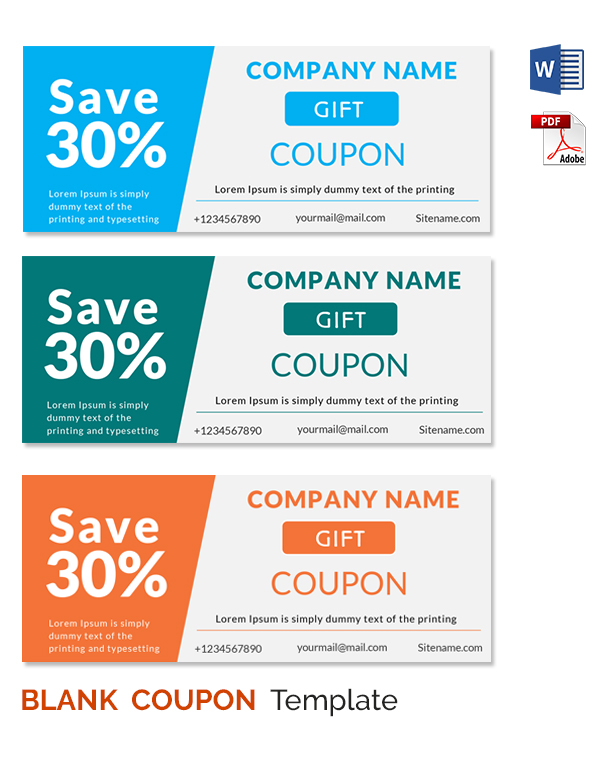 Awesome Coupon Template For Word Gallery  Best Resume Examples By