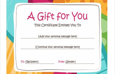 coupon template word gift coupon template