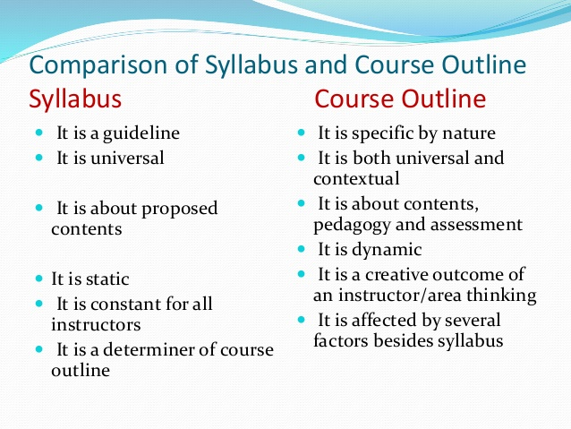 course syllabus template