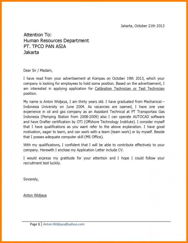 Cover Letter For College Application  Template Business
