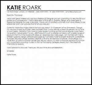 cover letter for graphic designer freelance designer