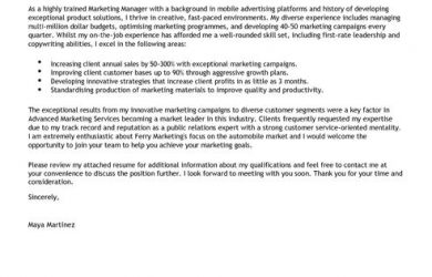 cover letter for graphic designer marketing manager cover letter full