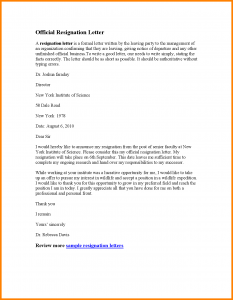 cover letter format template resignation letter effective today sample