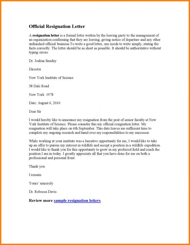 cover letter format template