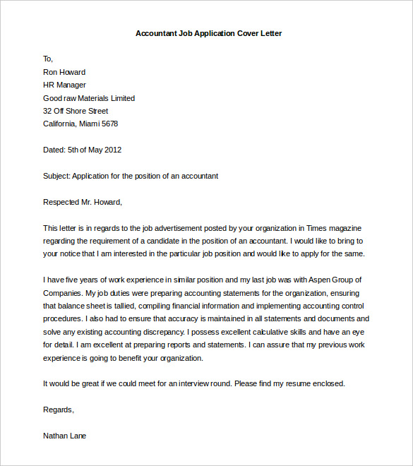 Cover Letter Template Word  Free Templates For Cover Letters