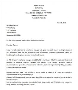 professional cover letter templates free