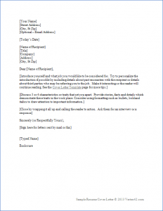application cover letter template word
