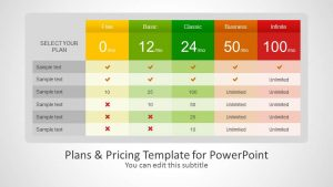 creative powerpoint templates plans pricing template powerpoint