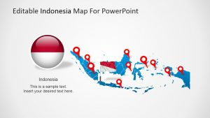creative powerpoint templates indonesia editable map x