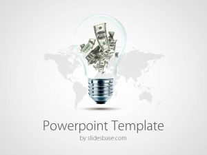 creative powerpoint templates business ideas make money light bulb dollars rich powerpoint template slide