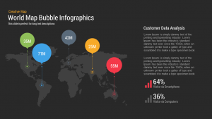 creative powerpoint templates world map bubble infographics