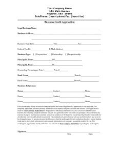 credit application form business credit application form 1