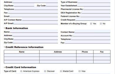 credit application form credit application form pdf