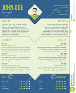 credit application template modern curriculum cv resume template design blue green color combo