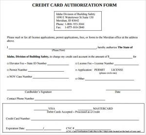 credit card authorization form pdf sample credit card authorization form