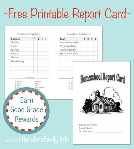 credit card template report card graphic