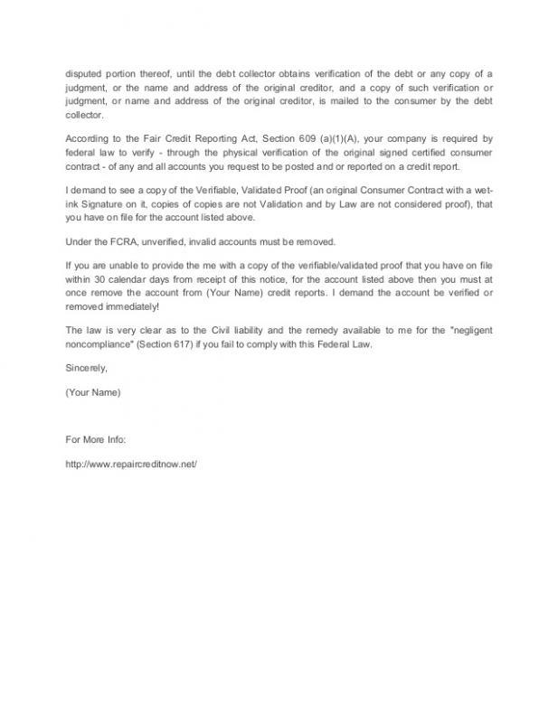 credit repair letters pdf