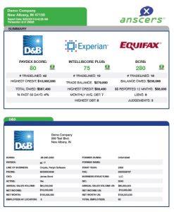credit report sample sample anscers image
