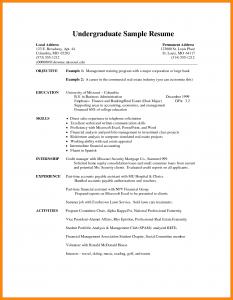 curriculum vitae template student undergraduate cv template undergraduate student cv examples