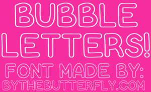 cursive font download bubbleshow